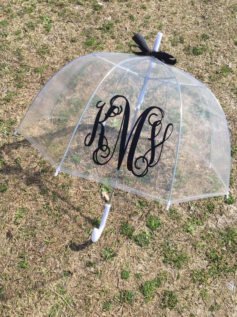 monogram umbrella bridesmaid gift personalized gift dome image 0