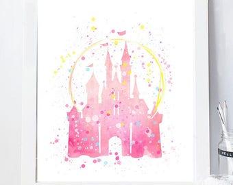 disney castle pink castle girls room decor girls disney wallprincess nursery