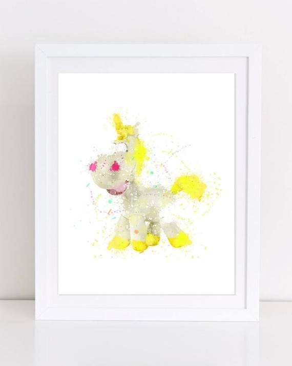 70 Toy Story Unicorn Toy Story Watercolor Watercolor Disney Watercolor Unicorn Unicorn Print Nursery Wall Nursery Decor Toy Story