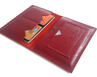Leather Passport Cover. Red Leather. Leather Passport Holder. Gifts For Travelers. Travel Gifts Leather travel wallet Passport Leather Pouch