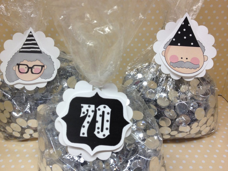 40th 50th 60th 70th Birthday Party Candy Or Favor Bags With