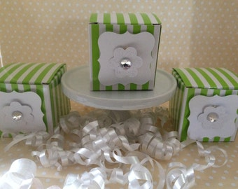 Lime Birthday Party Mini Favor Boxes - Set of 10