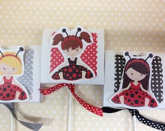 Ladybug Party Lollipop Favors - Set of 10