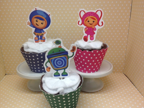Team Umizoomi Cupcake Topper Decorations