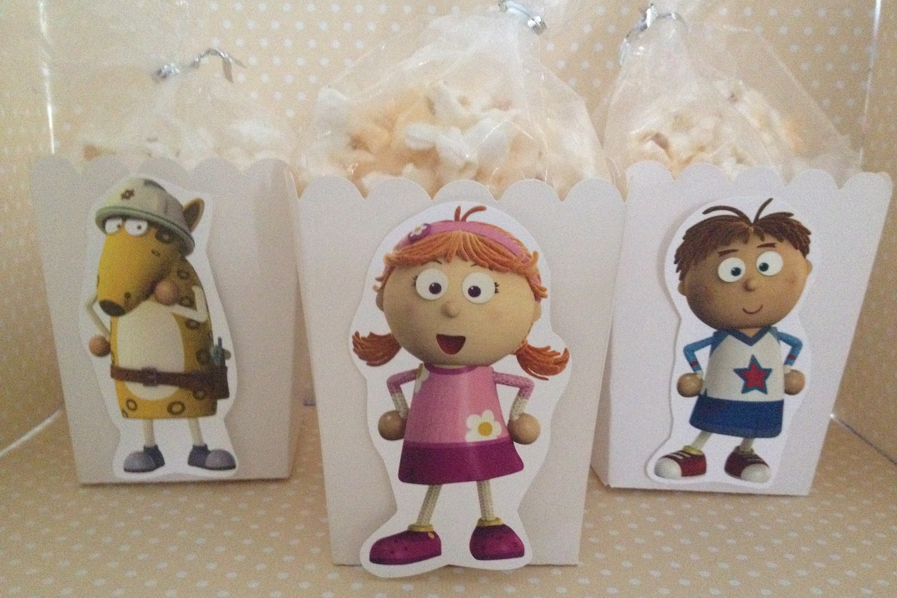 Tickety Toc Party Popcorn Or Favor Boxes Set Of 10