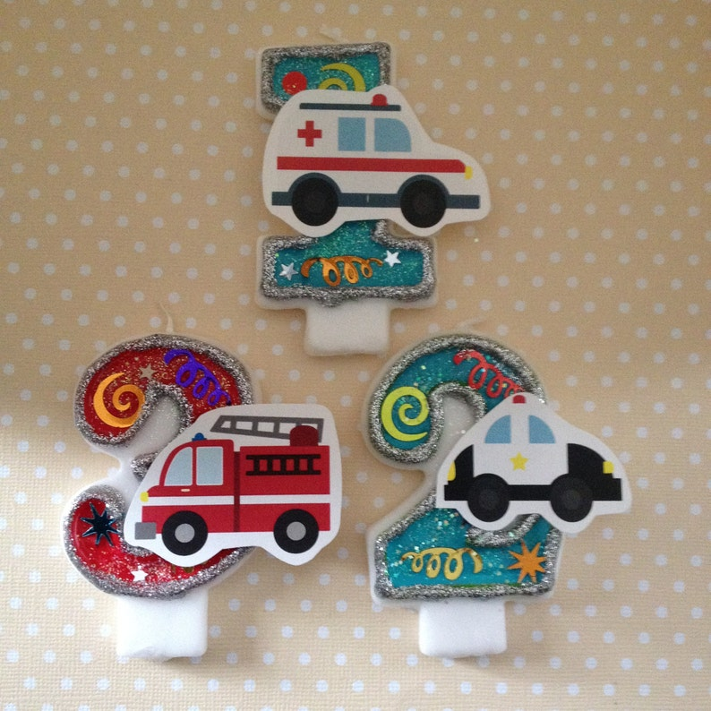 Emergency Vehicles Police Car Fire Truck Ambulance Birthday