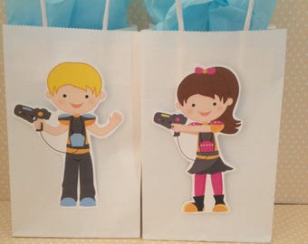 Laser Tag Party Bags With Handles - Set of 10