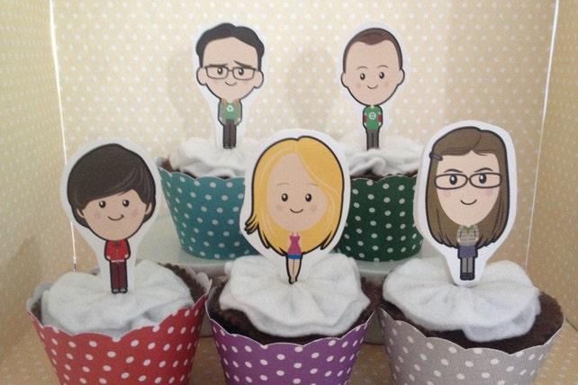 Big Bang Theory Party Cupcake Topper Decorations Set Of 10