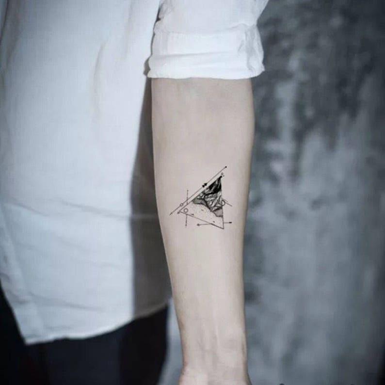 Triangle Rock Tymczasowy Tatuaże Tymczasowy Tatuaże Mały Tatuaż Małe Tatuaże