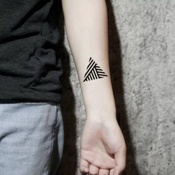 Driehoek Lijnen Tijdelijke Tatouages Tijdelijke Tatoeages Kleine Tattoo Kleine Tatoeages