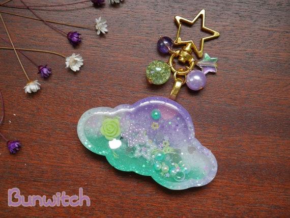 purple Cloud Shaker Keychain