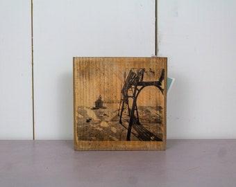 Lighthouse Wall Art on Wood