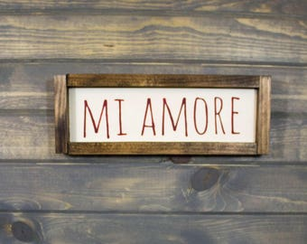 Mi Amore Valentine's Day Sign