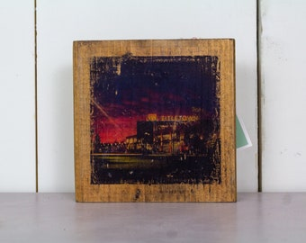 Sunset at Titletown Wall Art on Wood