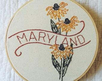Maryland - Black Eyed Susan 8'' Hoop