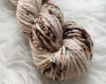 BULKY - Toasted Marshmallow - Hand Dyed - Superwash Merino Wool Yarn