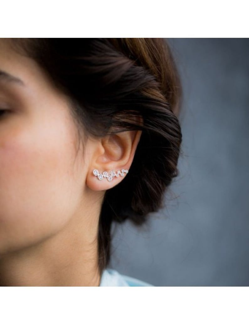 a957700f4531 Pair of Silver Ear Climber  Christmas Sale  Gift for Her