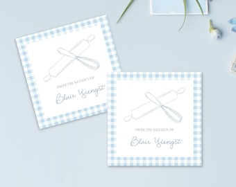 Custom Homemade Baked Goods Enclosure Cards, Personalized From the Kitchen Of Gift Cards, Housewarming Gift Enclosure Card