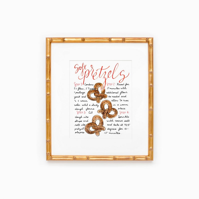 Soft Pretzel Print Man Cave Wall Art Gift for Boyfriend for image 0