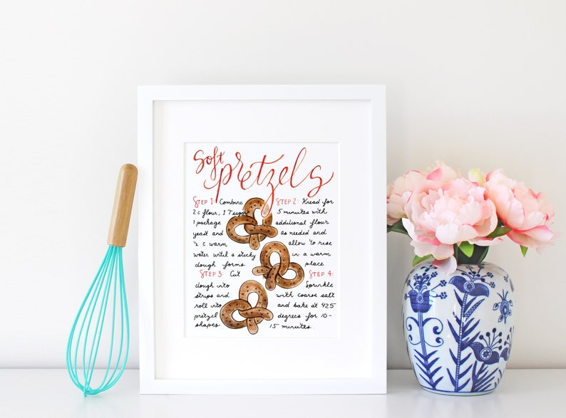 Pretzel Illustration Father's Day Gift Gift for Dad image 0