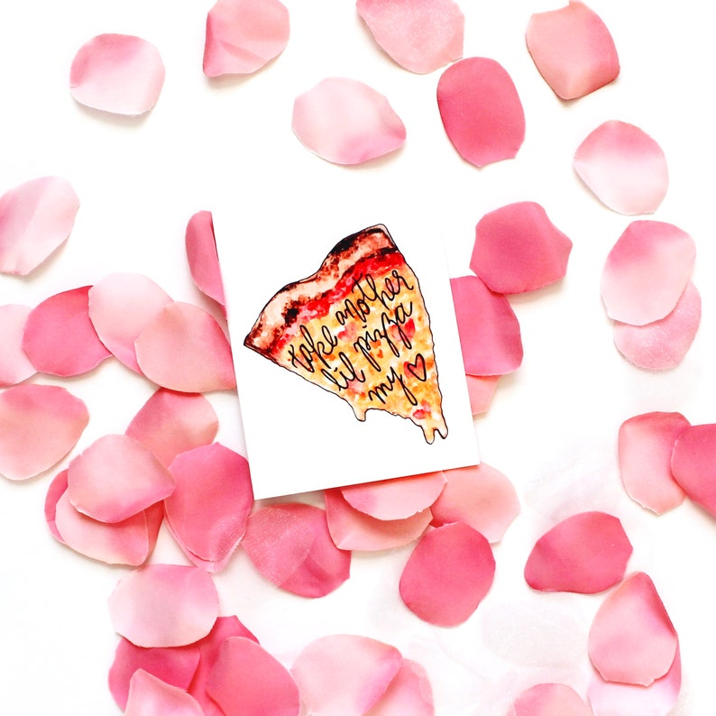 Take Another Lil Pizza My Heart Greeting Card Best Friend image 0