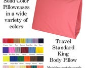 Solid Color Pillowcases Travel Standard King Body Pillow