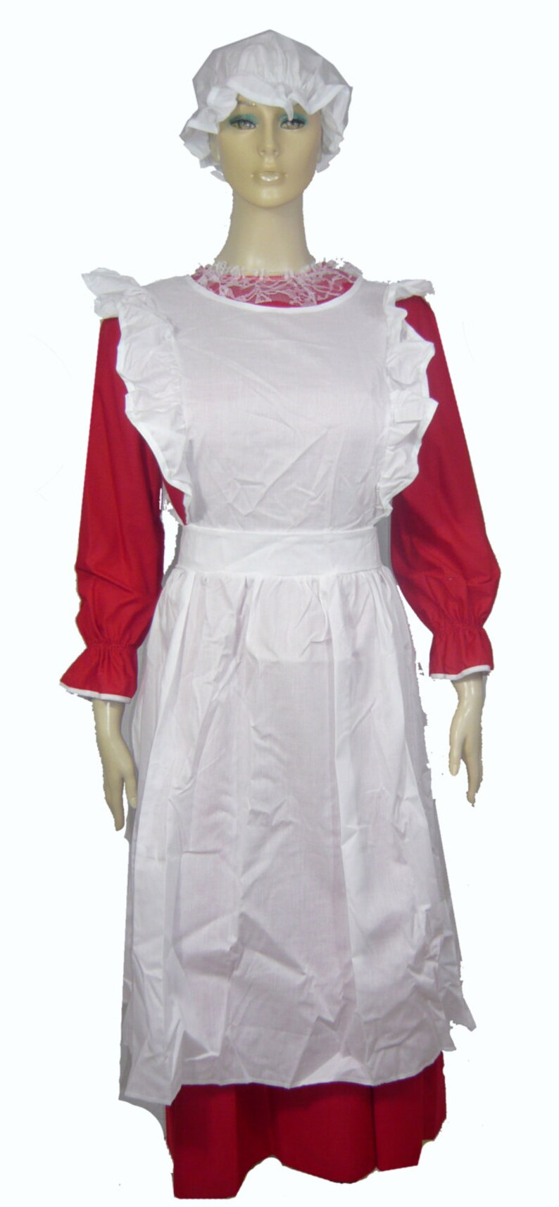 Christmas Outfit.Mrs Claus Santa Christmas Outfit Costume Dress Size Medium Dc0105
