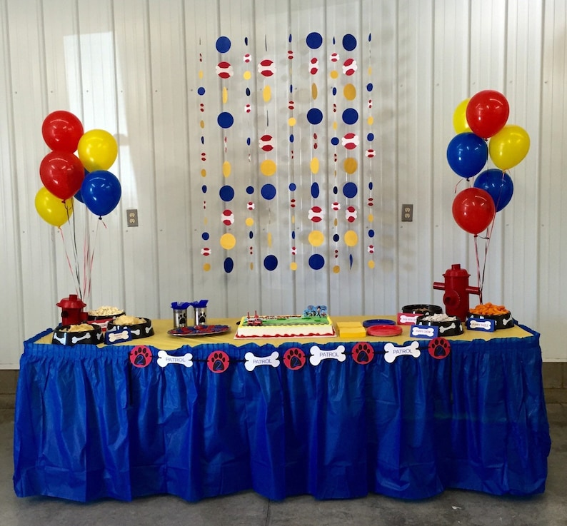 Personalized Paw Patrol Birthday Party Banner
