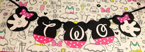 Minnie Mouse Birthday Party Banner Second Supplies Mickey Decorations