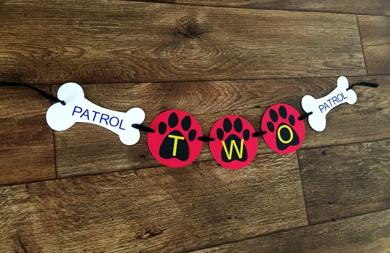 Paw Patrol Birthday Party Banner Second