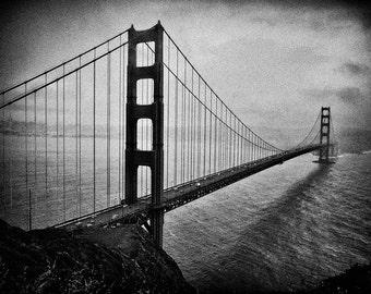 Golden Gate Bridge, San Francisco, Black & White, Sepia