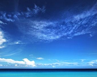 Tropical Beach, Ocean, Cancun, Mexico, Pretty, Aqua, Minimalist