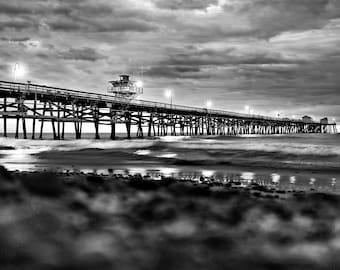 San Clemente Pier B&W