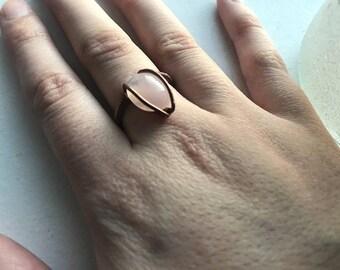 Rose Quartz Ring (size 6.5)