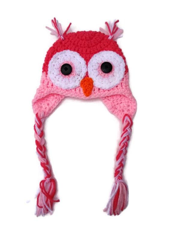 Tuque hibou 6-9 mois chapeau bébé bonnet chouette chapeau   Etsy 3cf611f41dd