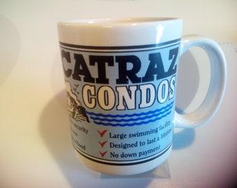 "Alcatraz Prison ""Condos"" Ceramic Coffee Mug - San Francisco Collectible"