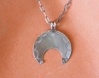 Stamped Naja Necklace