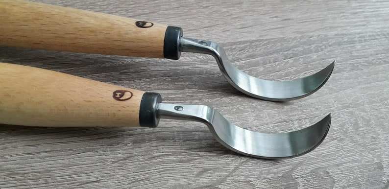 Spoon carving knife  Hand forged  wood carving tool
