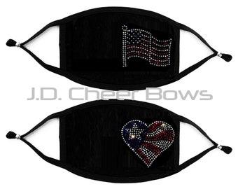 Unisex Plus Size USA Flag Sandals Rhinestone Women/'s Pullover Hoodie Bling Bling 071 Flag Handmade
