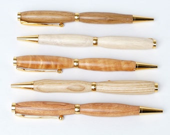 Wood pen handmade from Oregon cherry for all your love letters.