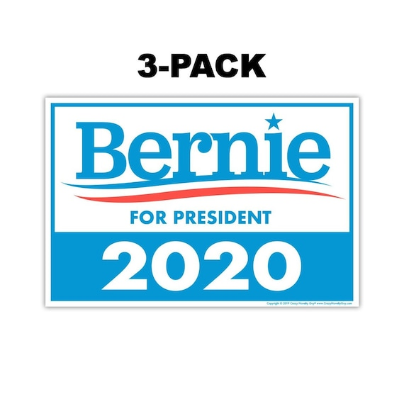Bernie Sanders 2020 for President Bumper Sticker 24 Pack Made In USA