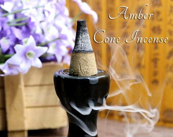 Amber Incense 40 Cones | Cone Incense | Incense | Stress Relief | Aromatherapy