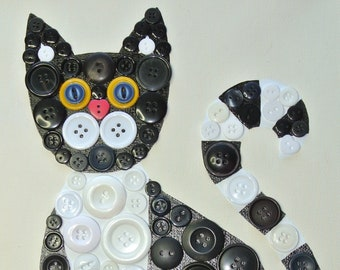 Button Craft KIT for Kids, Kitty Cat Craft kits, Kids crafts, Cat Button Craft, DIY puzzle, Cat Crafts for kids, kid's, button art, cats