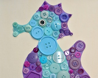Button Craft KIT for Kids, Seahorse Craft kits, Kids crafts, Seahorse Button Craft, DIY puzzle, Seahorse Crafts for Kids, button art sea art