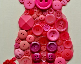 Button Craft KIT for Kids - Piglet