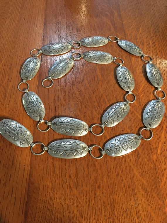 Sterling Concho belt oval links approximately 38 1