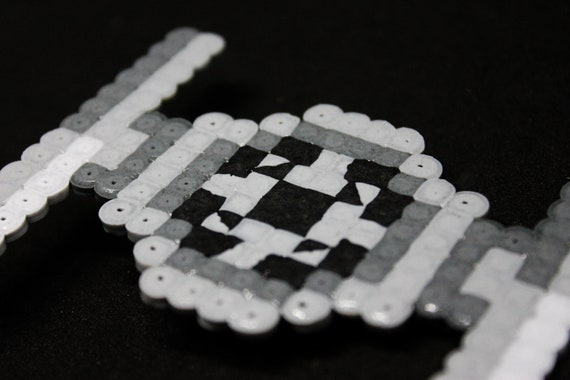 Pixel Art Hair Clip Handmade Unique Inspired By A Tie Fighter From Star Wars