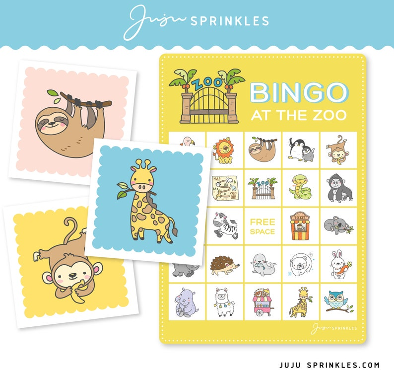 graphic about Zoo Animal Flash Cards Free Printable identified as Animal Bingo Printable Occasion Activity Zoo Animal Flashcards Matching Activity + Flashcards Electronic Obtain PDF