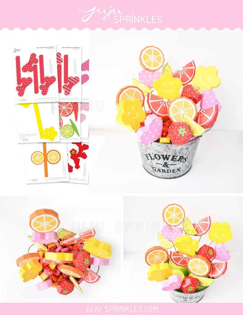 Fruit Papercraft Fruit Bouquet Heart Papercraft Heart Paper Etsy
