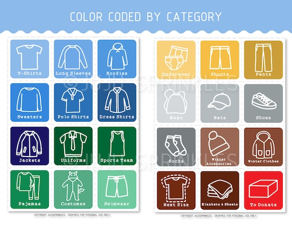 graphic about Printable Clothing Labels referred to as Young children Outfits Closet Organizers Printable Boy Clothes Labels Konmari Labels Young children Drawer Small business Labels Storage Coloring Web pages